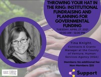 Throwing Your Hat in the Ring: Institutional Fundraising and Planning for Governmental Funding