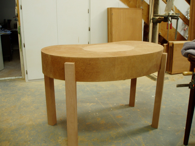 Custom-woodworking-dressing-table-prior-to-shaping-legs