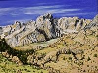 """Mt. Humphreys"", oil, 18 X 24, $1,600.00"