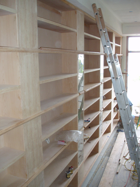 Custom-woodworking-library-installation-in-pacific-palisades