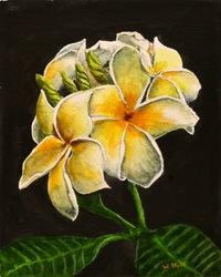 """Plumaria"", watercolor, 8 X 10, $450.00"
