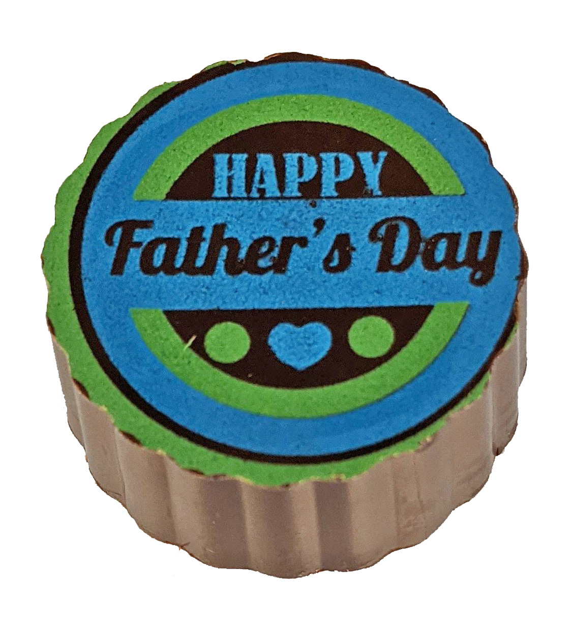 Round chocolate with Father's day wrote on it