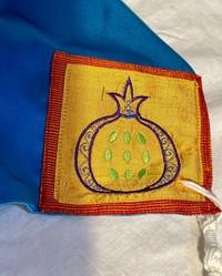 SIlky Blue Tallit with Custom Atarah