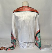 Pink and Green Hibiscus Tallit