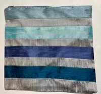 Traditional Grey and Blue Striped Tallit Twin #1
