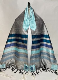 Ellie's traditional silver tallit