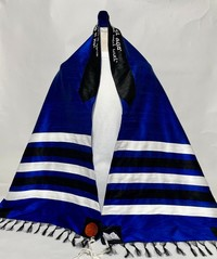 Max's traditional royal blue tallit