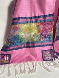 Alison's pink with batik tallit