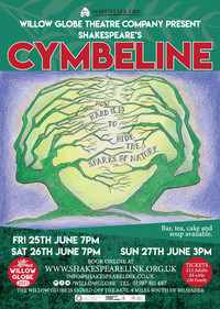 Performance Announcement: Willow Globe Cymbeline, opening 25 June!