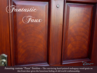 Faux Mahogany Door