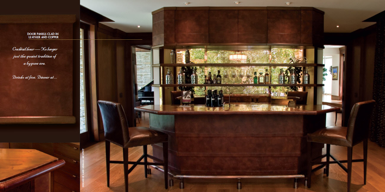 Copper-and-leather-bar