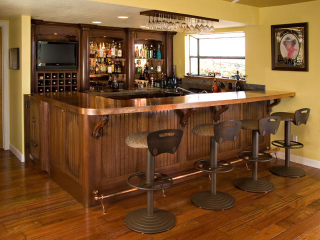 Fine-custom-handmade-bar-copper-counter