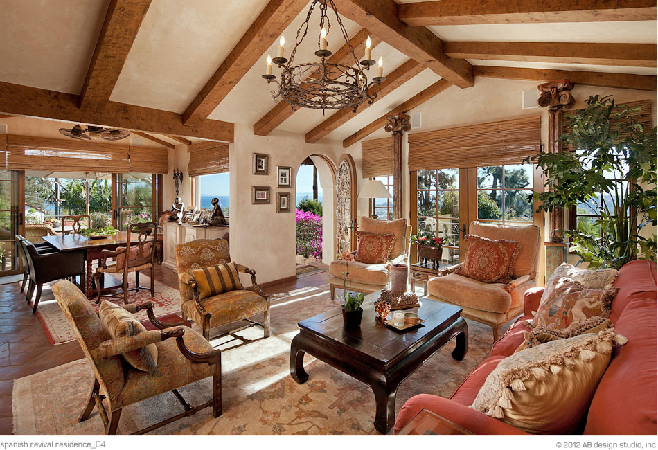 Spanish Revival Residence Interior