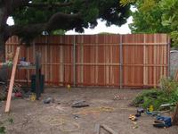 building tall cedar fence and gate