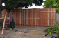 building tall cedar fence and gate