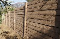 fireproof timbercrete fence no maintenance