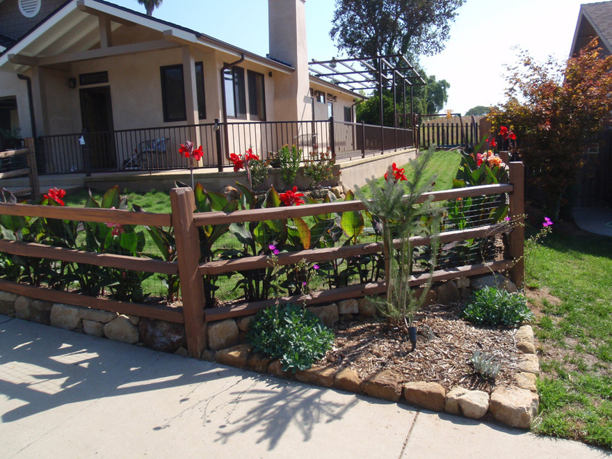 split rail fencing buffalograss ornamental plantings