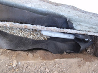 foundation french gravel drain waterproofing