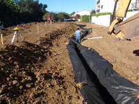 installing stormwater drainage infiltration gallery