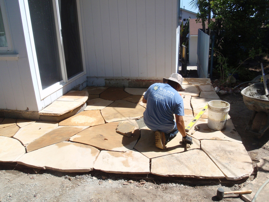 Building Flagstone Patio