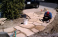 Flagstone Installation Grouting Joints