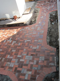 Brick Pavers Patio Paths Reused Recycled