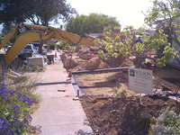 Driveway Installation During Forming Concrete Edges