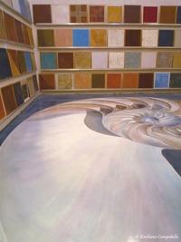Trompe L'oeil floor mural