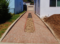 Paver Driveway 9 Cobble Drainage Swale