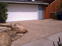 Paver Driveway Residential with Stone Stairs
