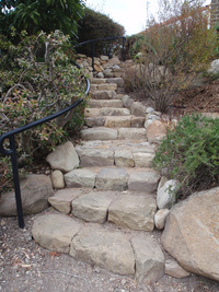 Sandstone Stairs Hand  Cut Treads