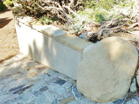 Block Stucco Flagstone Cap Wall Sandstone boulder End