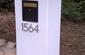 Stucco Block Locking Mailbox Flagstone Cap