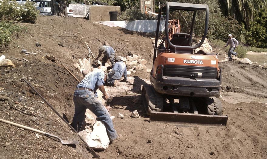 WilsonEnv Crew Building Terrace Sandstone Walls