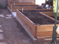 raised redwood vegetable beds custom