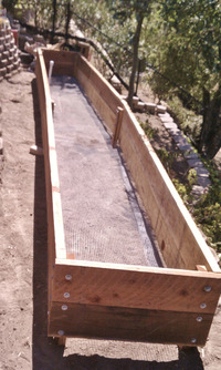 raised redwood veggie bed box custom size