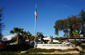 Firefighter Memorial palm tree Honor Guard flagpole statue