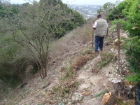 steep slope before