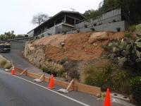 very steep slope erosion blanket installation before planting
