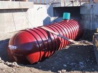 10,000 gallon underground fiberglass rainwater tank installation