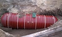 below ground fiberglass rainwater tank straps installation
