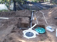 below ground rainwater tank plumbing