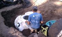 burying underground rainwater HDPE tank