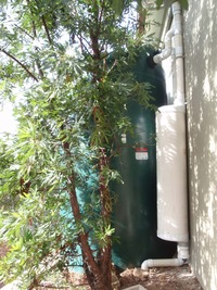 rainwater system tanks with first flush