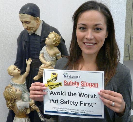 St. Vincent's Safety Slogan Winner