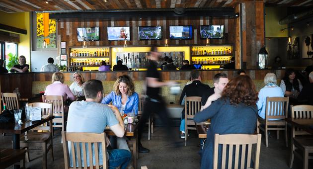 Clay Aurell Commercial Architect creates Eureka! Burger Restaurant Atmosphere