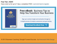 Planning a Website - Call to Action Email Offer Book