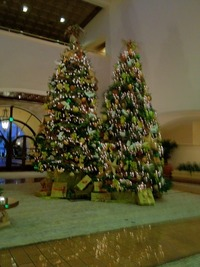 Double Tree Holiday Decor