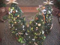 Double Tree Holiday Decor