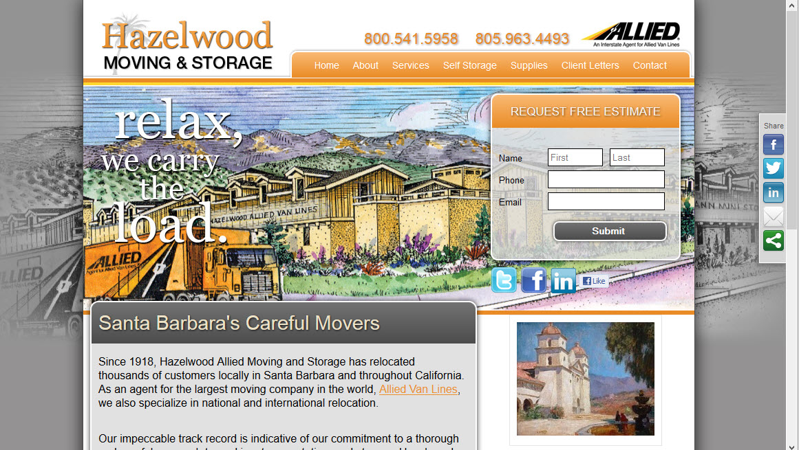 Santa Barbara Moving Company - Hazelwood Allied